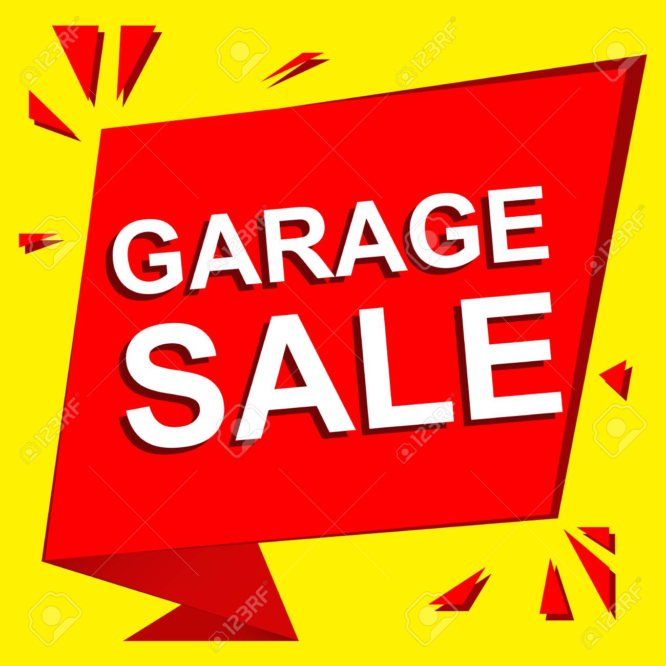 Garage Sale Ad Template from previews.123rf.com