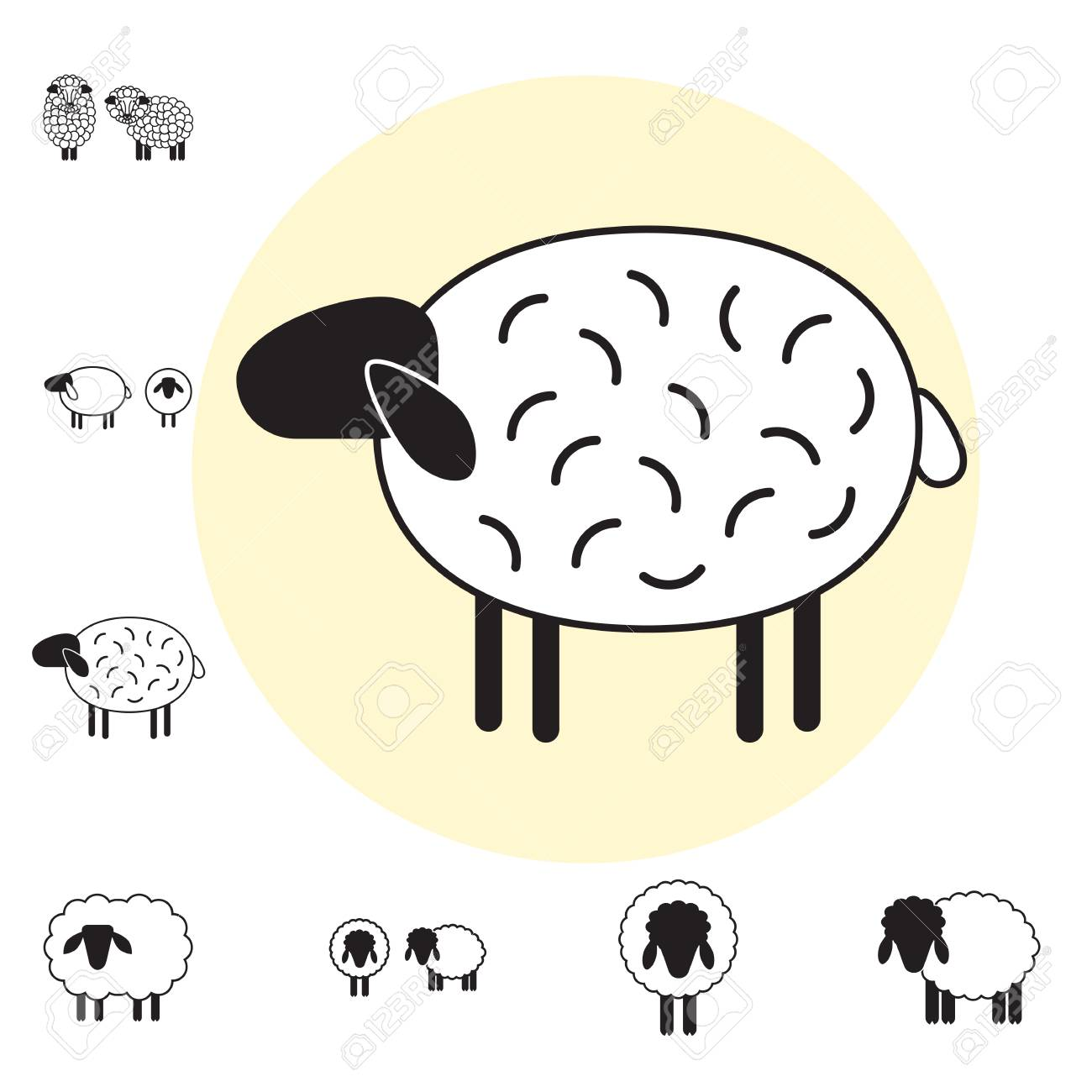 Sheep Or Ram Icon, Logo, Template, Pictogram. Trendy Simple Lamb ...