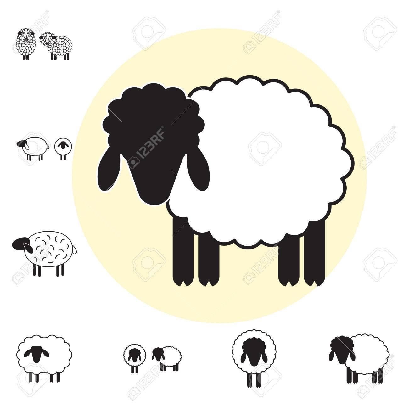 Ovejas O Ram Icono, Logotipo, Plantilla, Pictograma. Símbolo Moderno ...