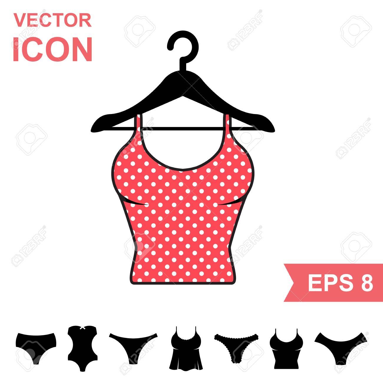 8493cb049ce0 Conjunto de icono de Vector de ropa interior correctiva sobre fondo blanco.  Colección moderna de ropa interior para jóvenes