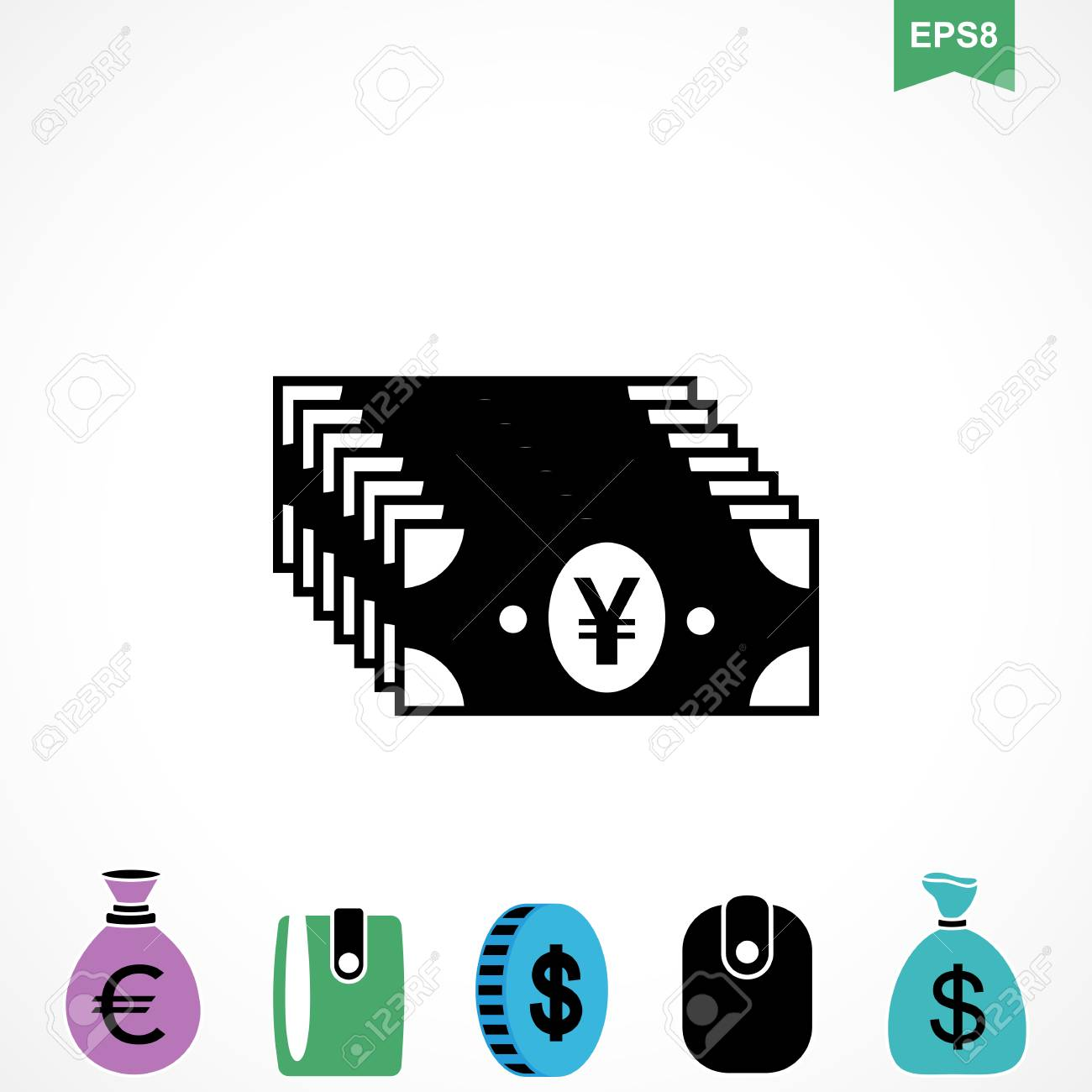 Money Yen Icon Or Flat Sign National Japan Currency Vector Symbol