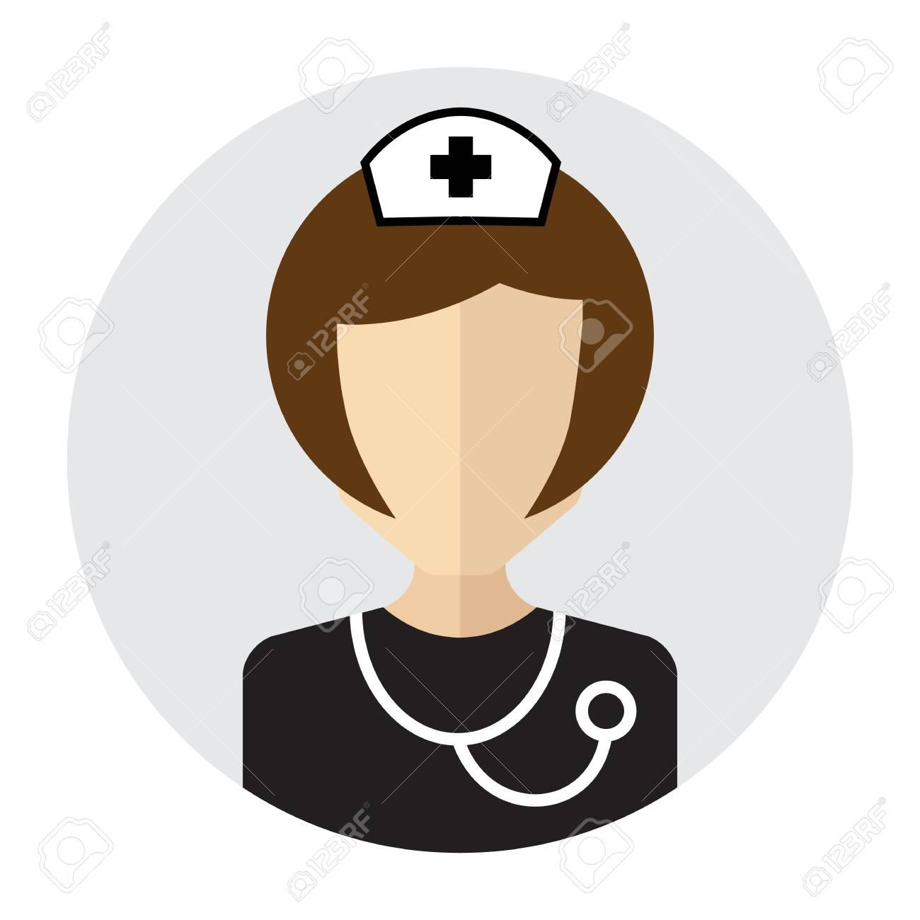 Doctor icon with stethoscope around his neck nurse vector symbol doctor icon with stethoscope around his neck nurse vector symbol medical specialist avatar stock biocorpaavc