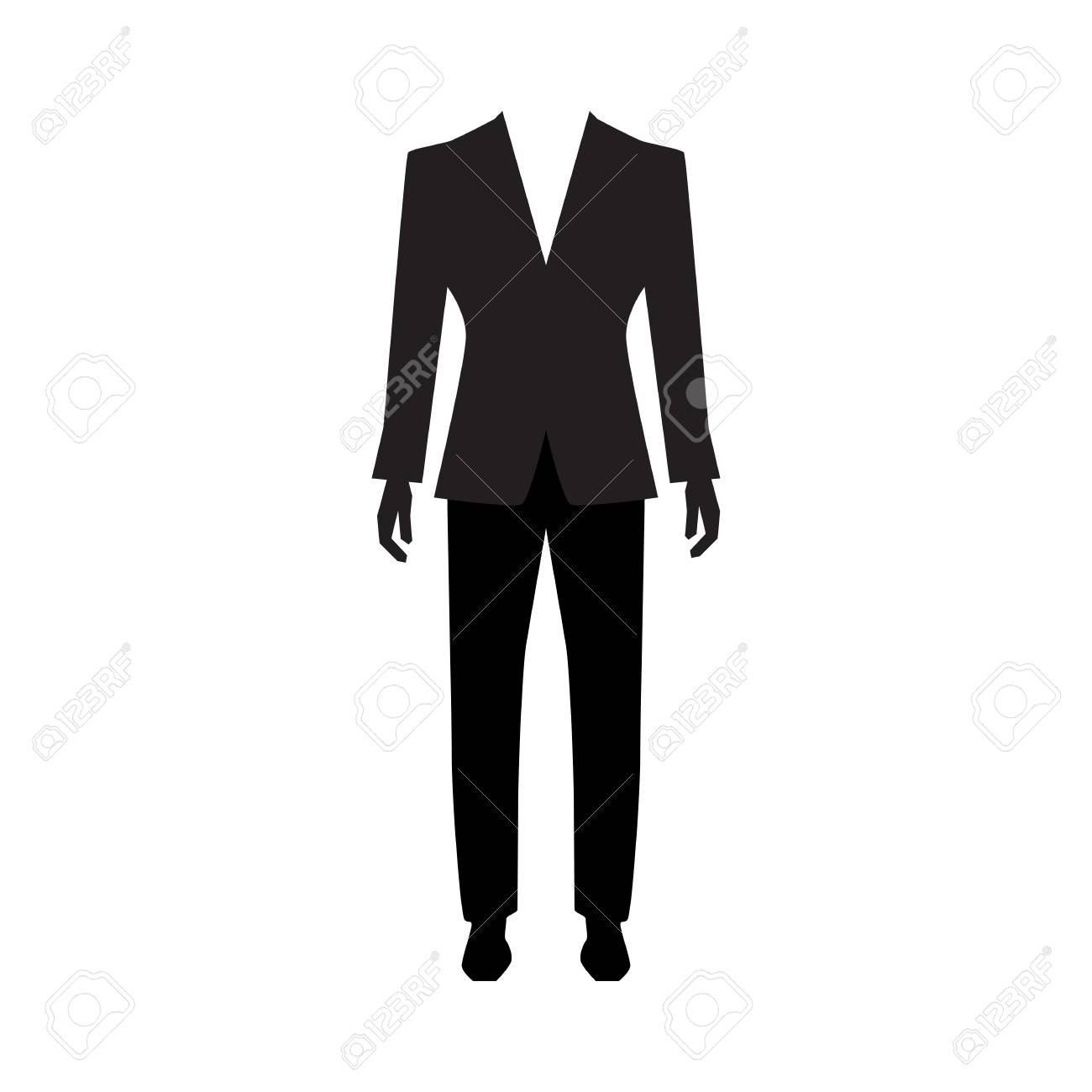 Man suit icon isolated on white background. Men formal suit vector..