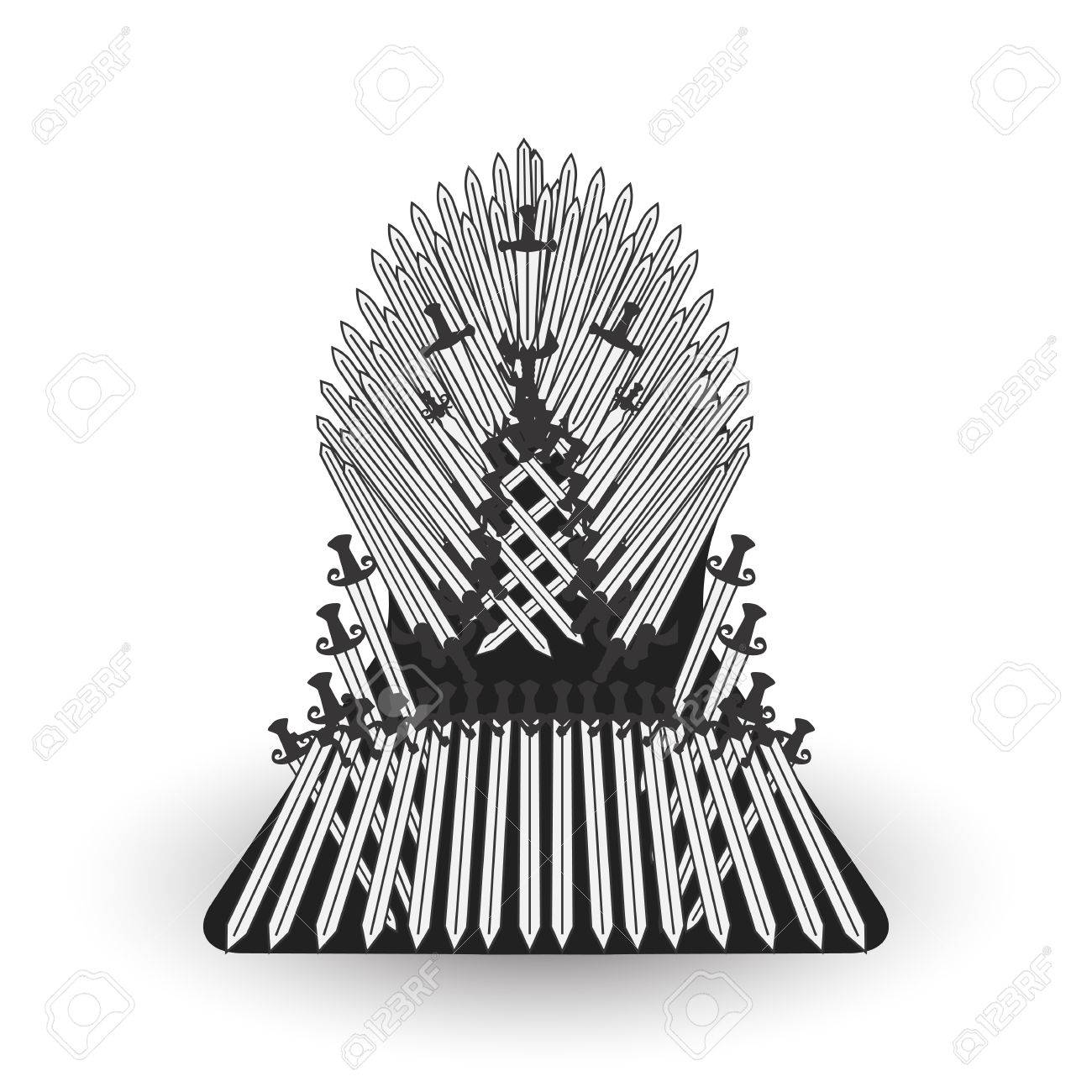 Iron Throne For Computer Games Design Vector Illustration Royalty