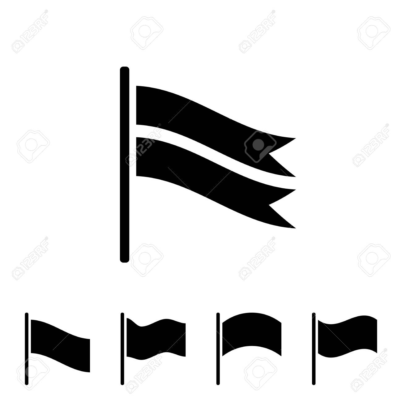 set of black flag vector icon isolated on white background royalty rh 123rf com flag vector icon flag vector free
