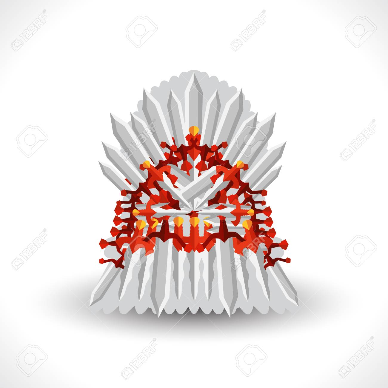 Iron Throne For Computer Games Design Vector Illustration In