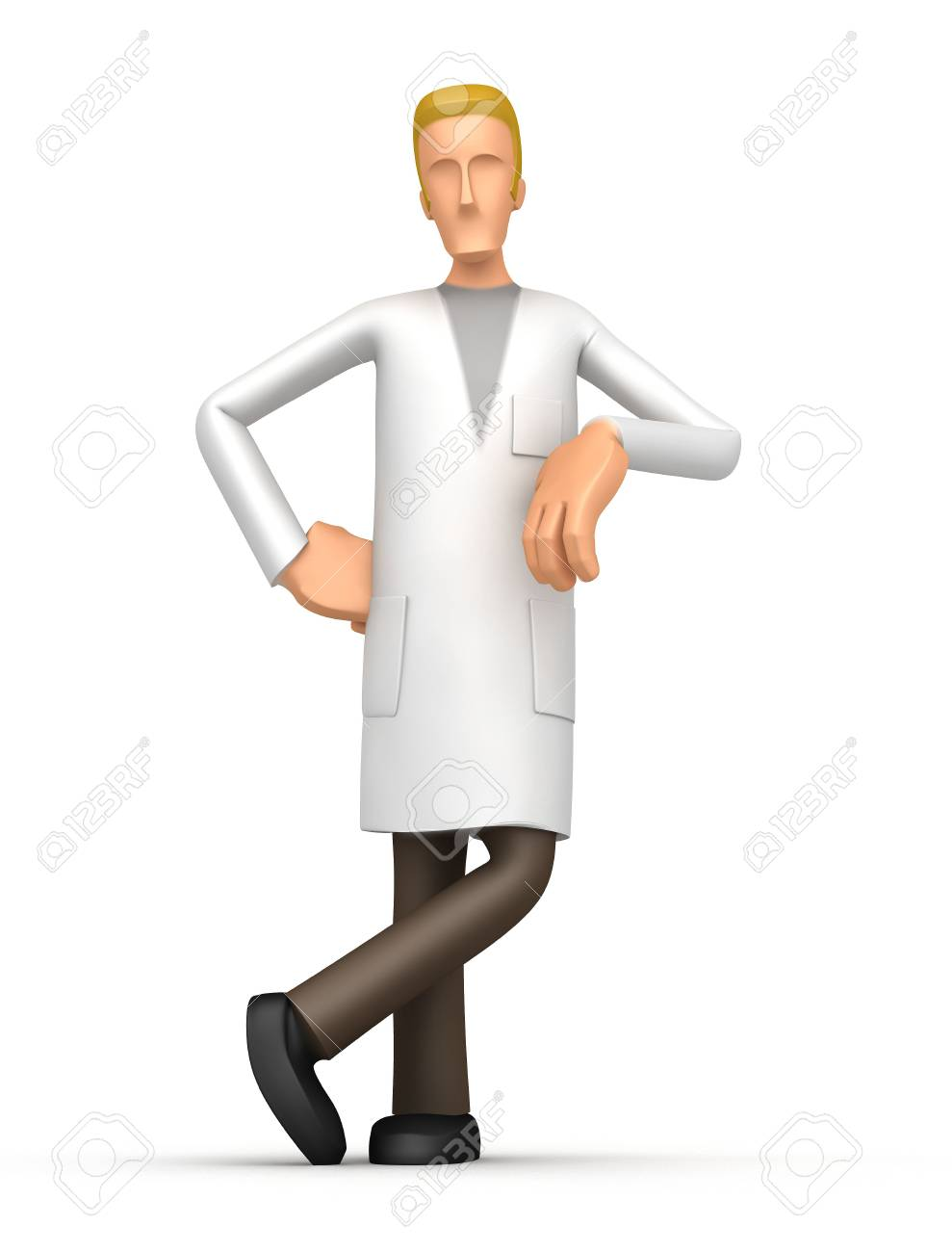 scientist on a white background. next to the scientist, you can place your product or the required information Stock Photo - 6425879
