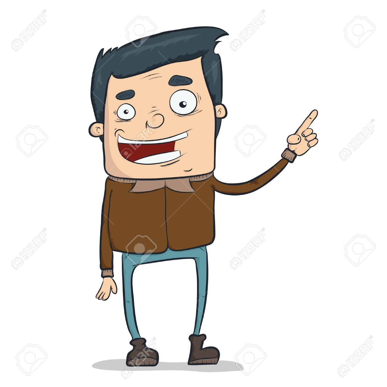 Illustration Of Funny Cartoon Character Doing Presentation Royalty Free Cliparts Vectors And Stock Illustration Image 7071750
