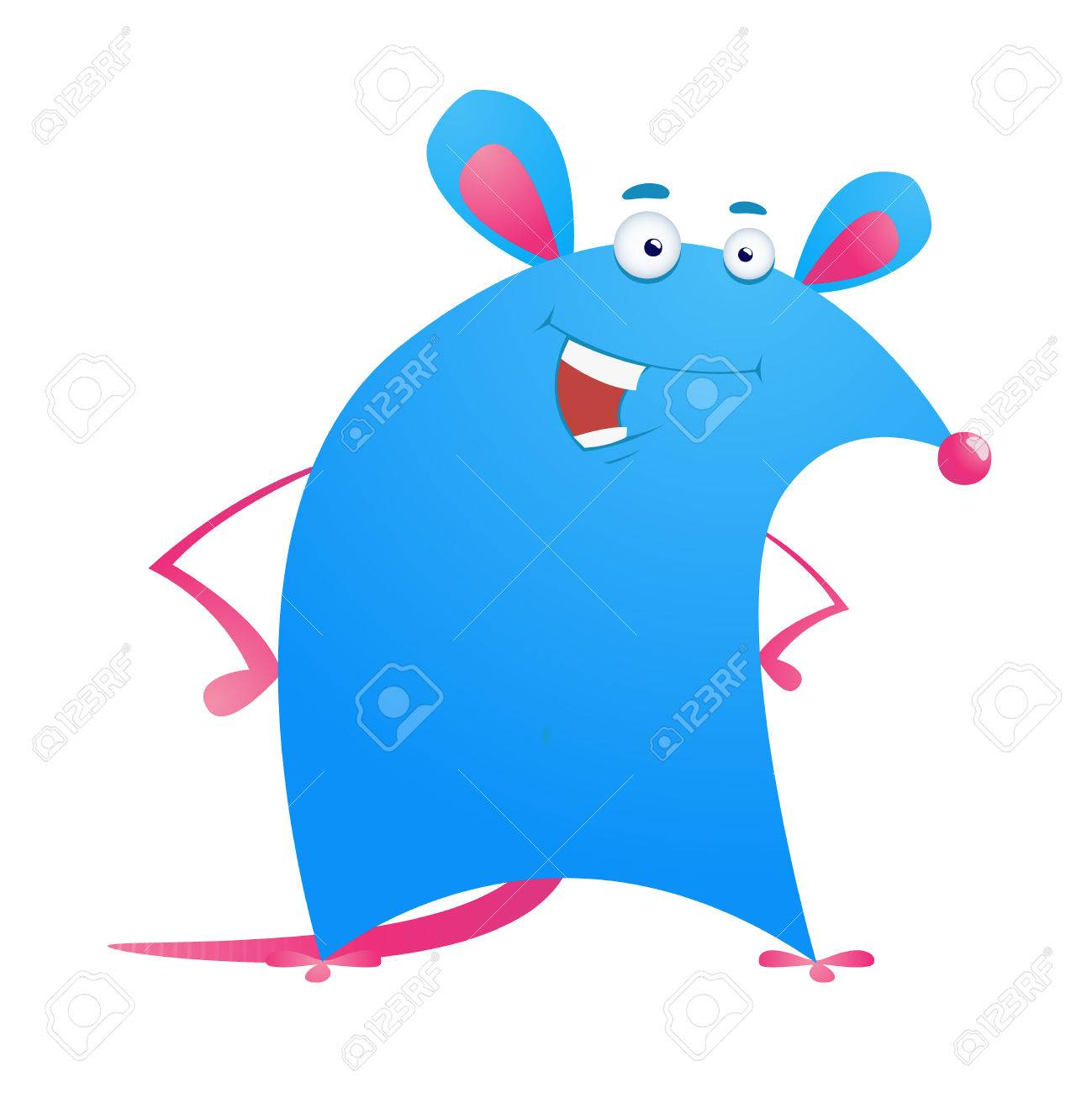 illustration of cartoon funny rat isolated on white background Stock Vector - 7467645