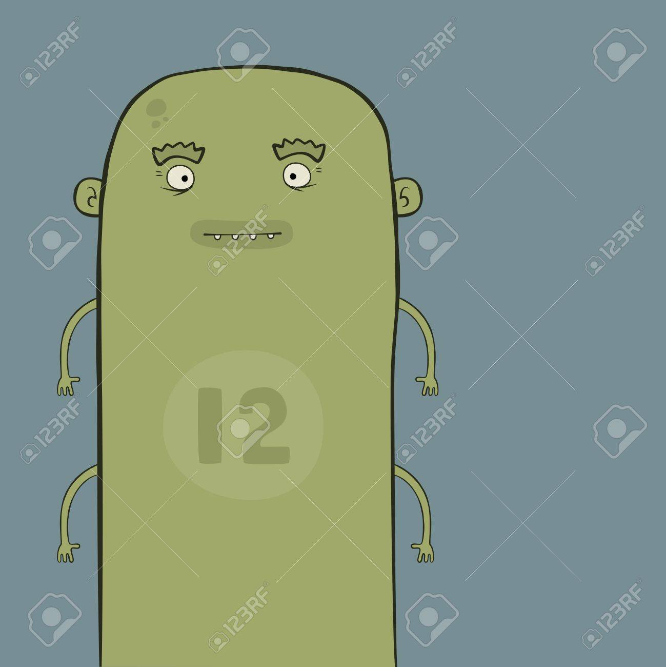 green cartoon character with four arms Stock Vector - 8146703