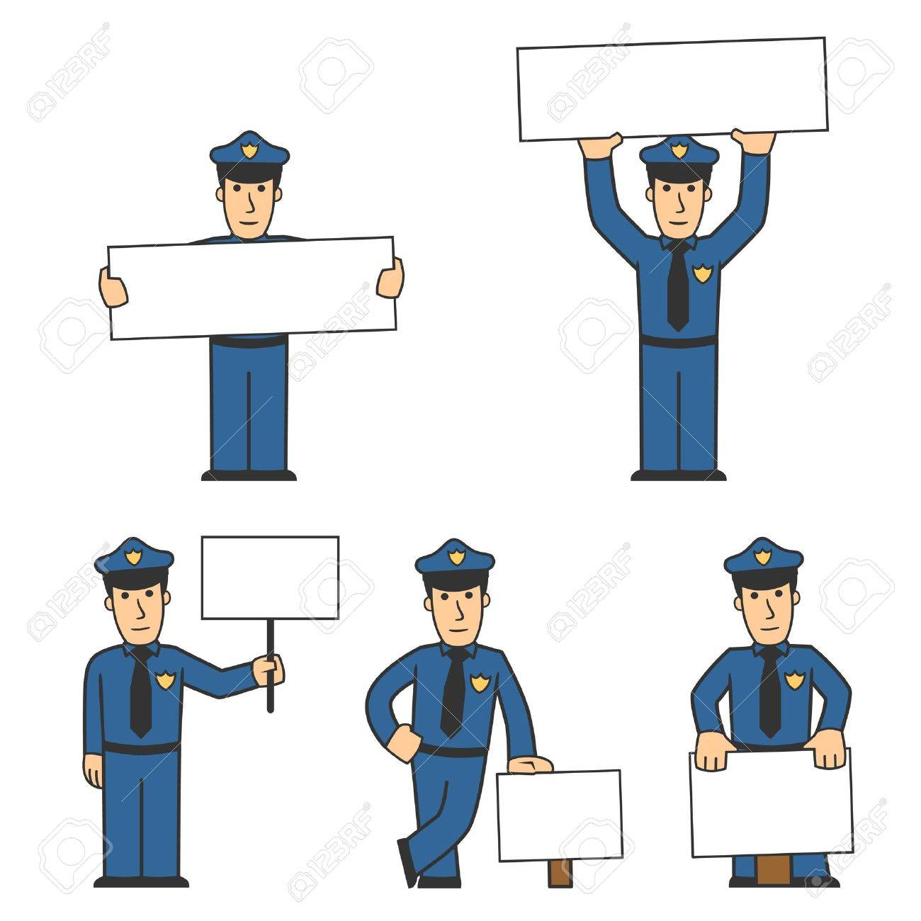 Police character set 02 Stock Photo - 8240704