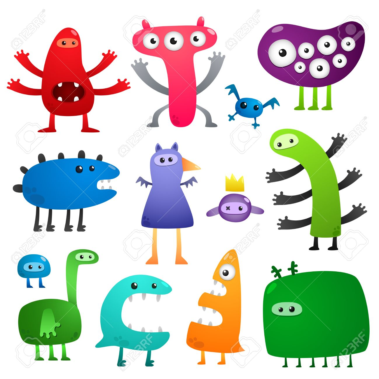 Funny monsters Stock Vector - 8601144