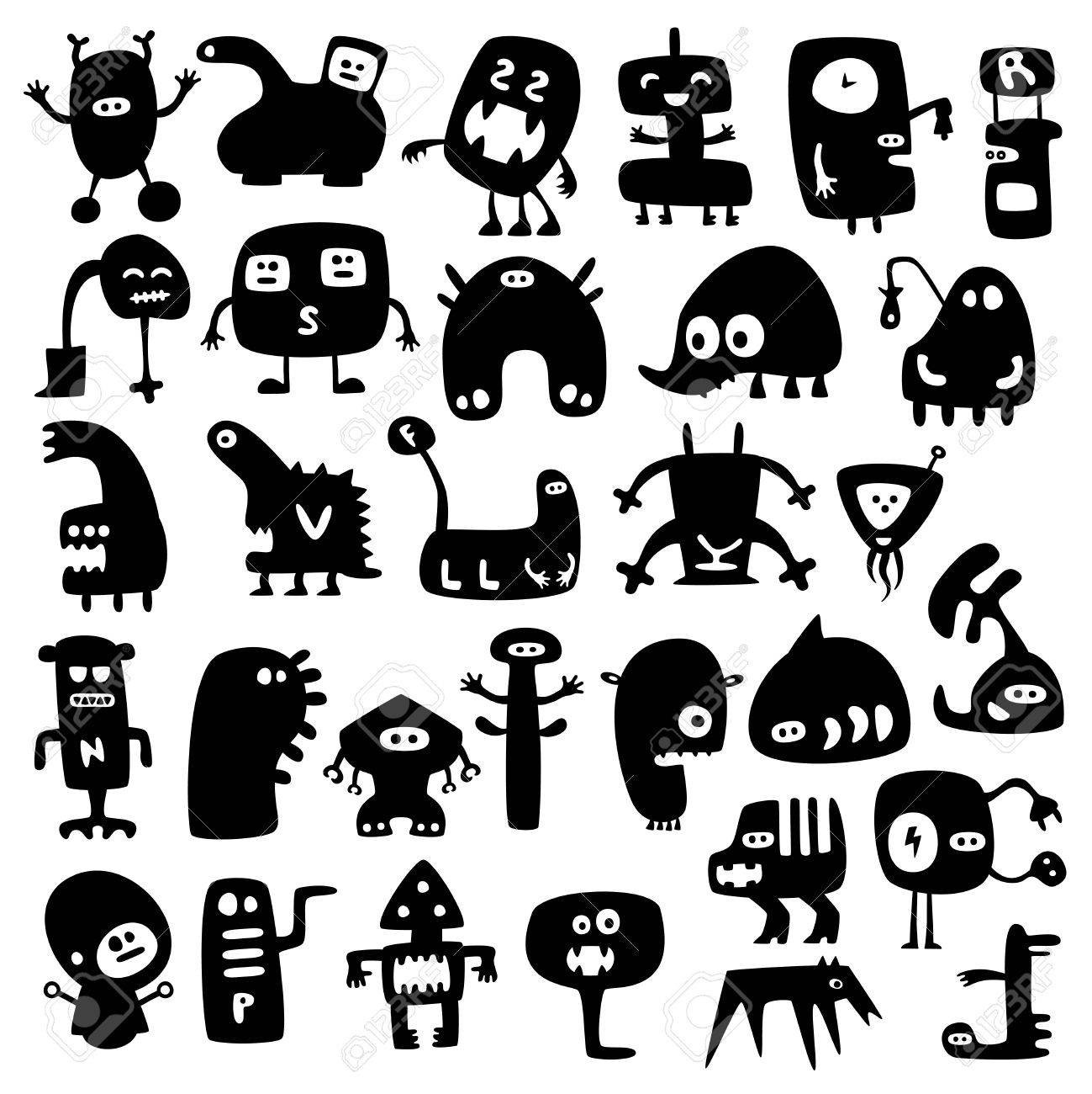 funny monsters Stock Vector - 9207424