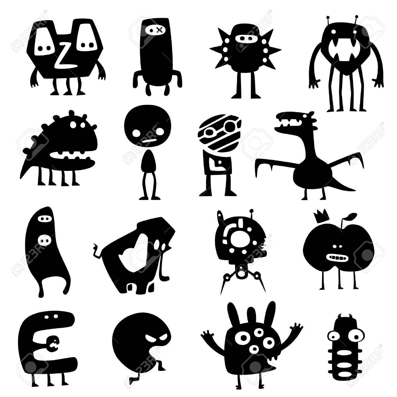 funny monsters Stock Vector - 9439488