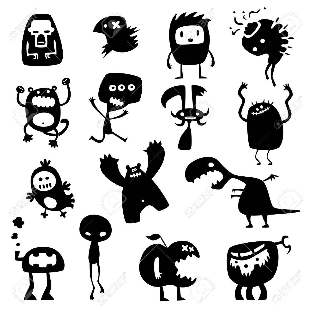 funny monsters Stock Vector - 9439490
