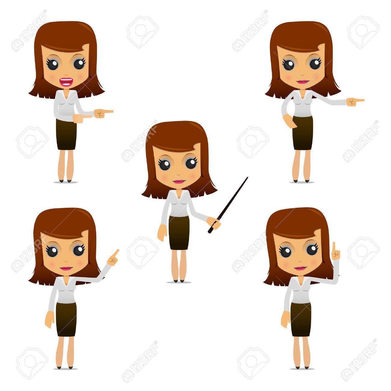 set of funny cartoon businesswoman Stock Vector - 9646520