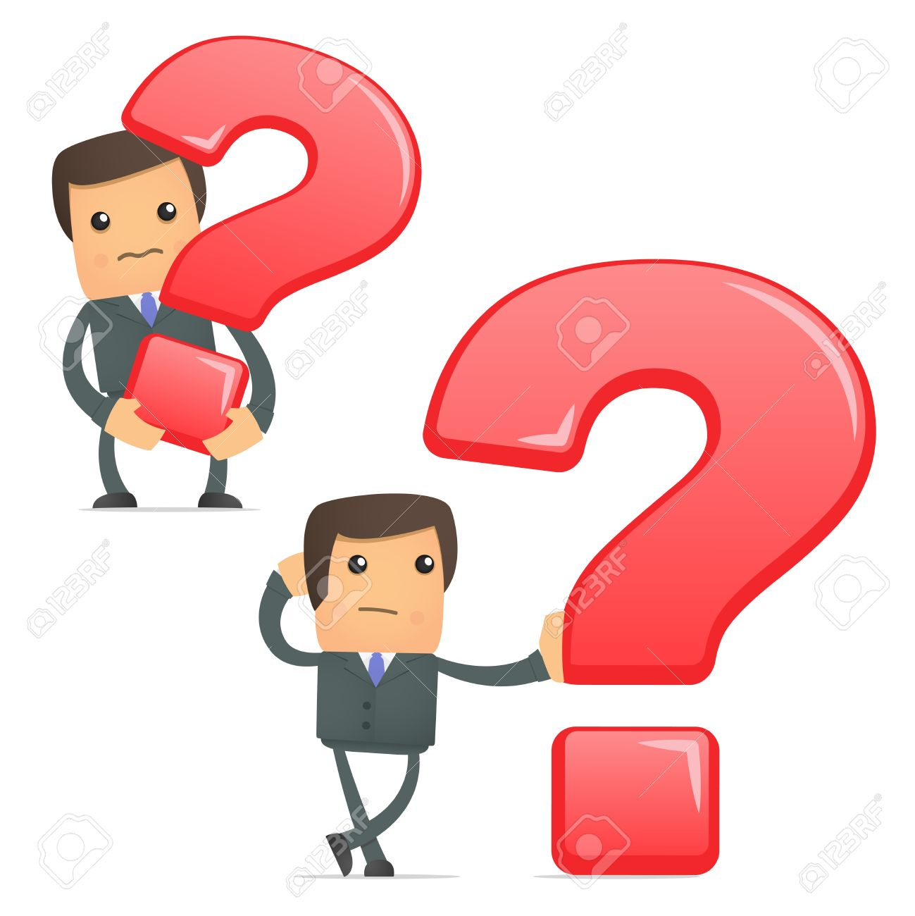 Pics photos clip art cartoon scientist with question mark stock - Asking Funny Cartoon Businessman With A Question Mark