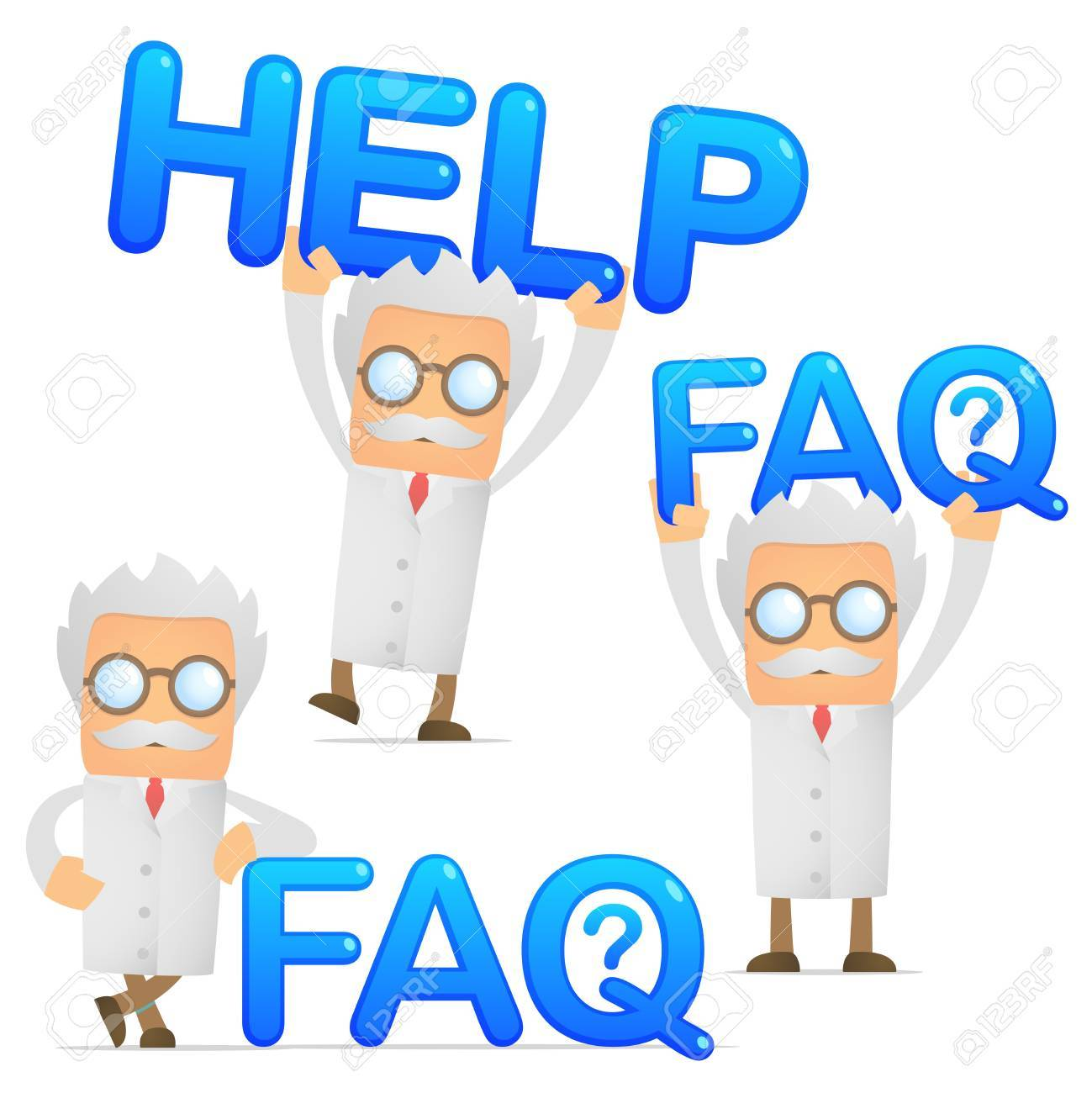 scientist provides support and assistance Stock Vector - 10493575