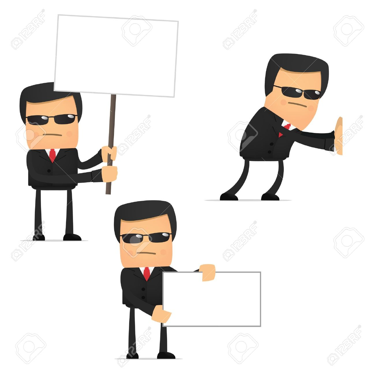 set of funny cartoon security Stock Vector - 10648883