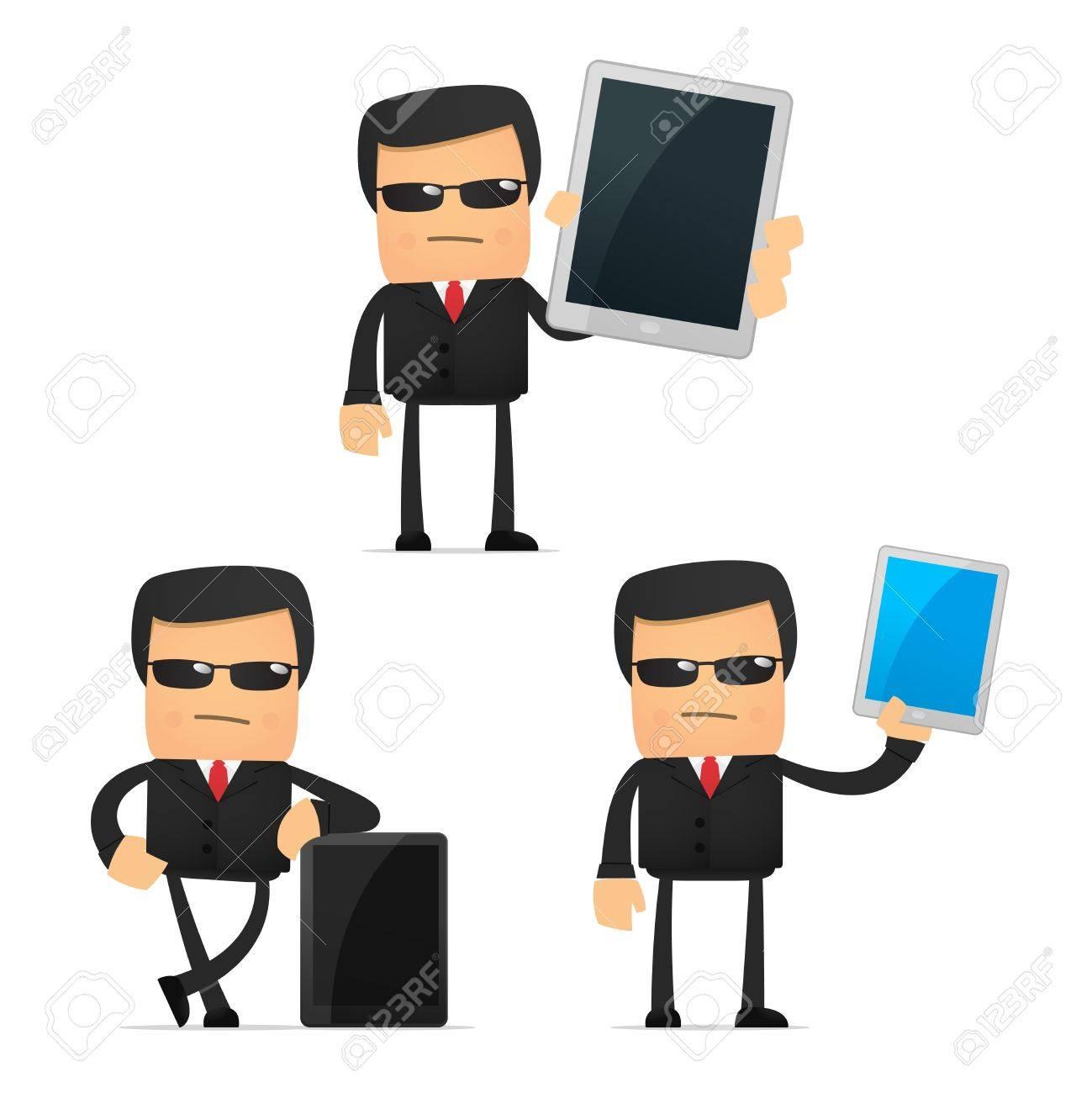 set of funny cartoon security Stock Vector - 10648936