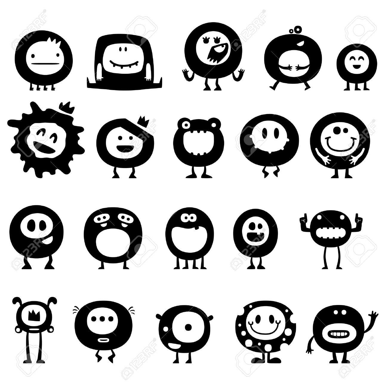 Cute Doodle Monsters Cute Doodle Monsters Doodle