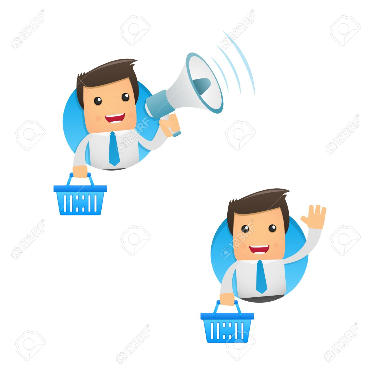 set of funny cartoon manager Stock Vector - 10993241
