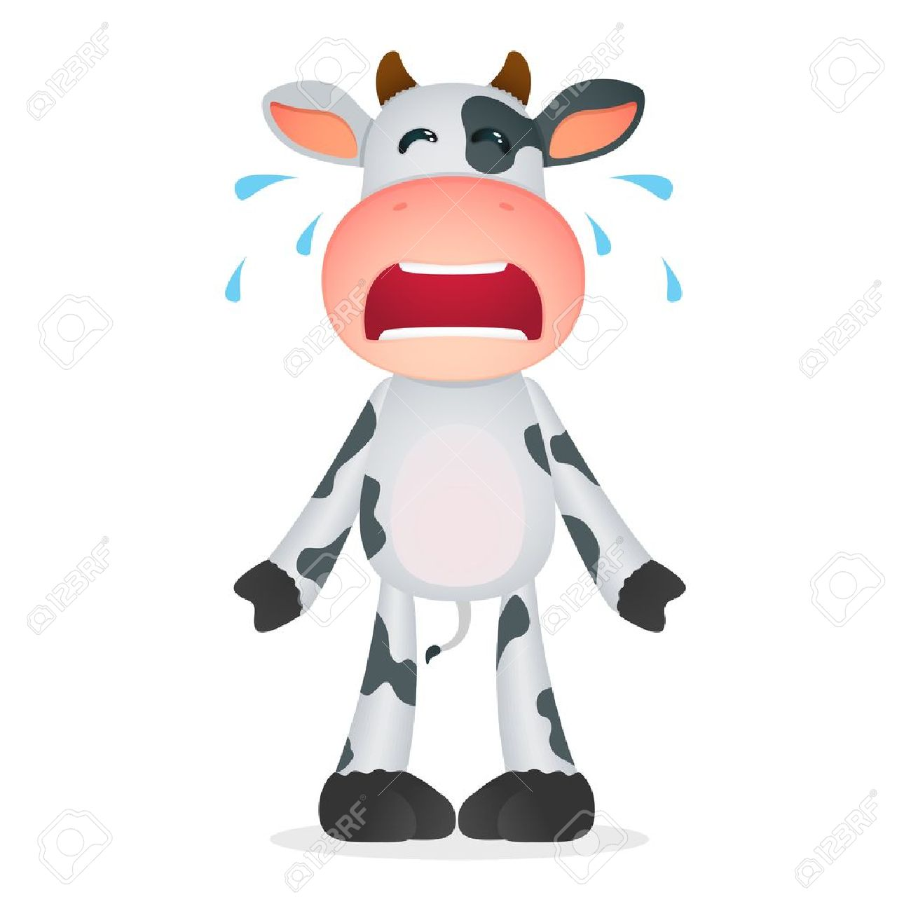 funny cartoon cow royalty free cliparts vectors and stock
