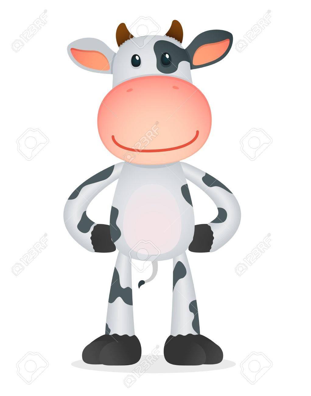 funny cartoon cow Stock Vector - 11168747