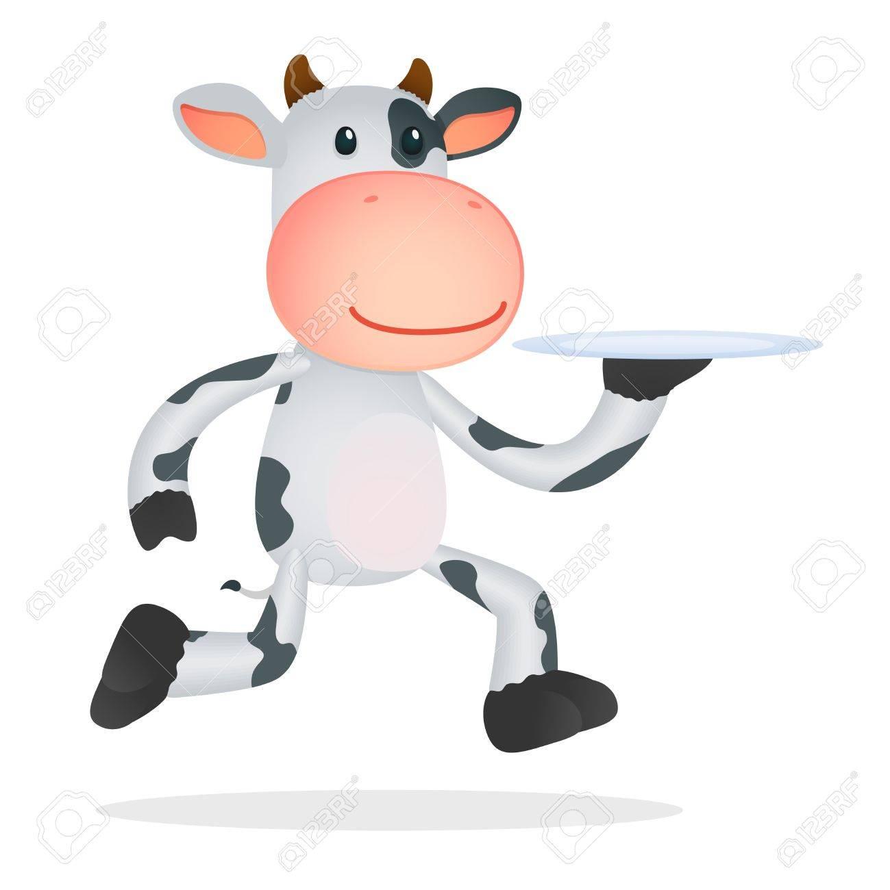 funny cartoon cow Stock Vector - 11168729