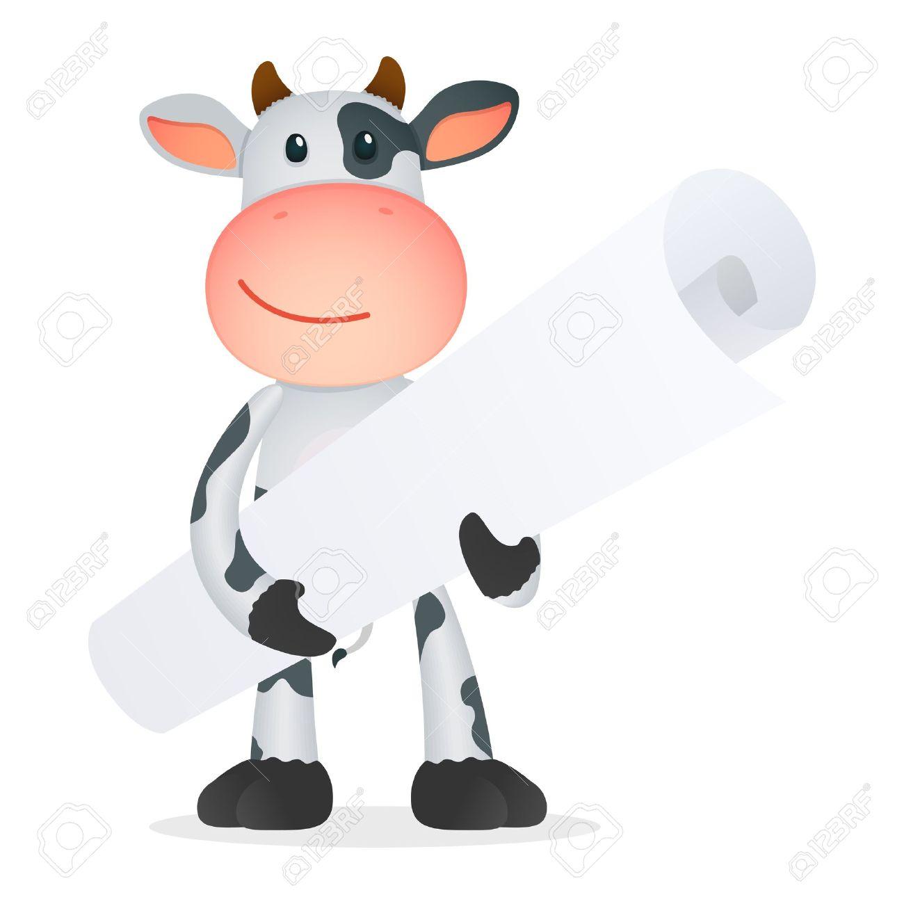 funny cartoon cow Stock Vector - 11250703