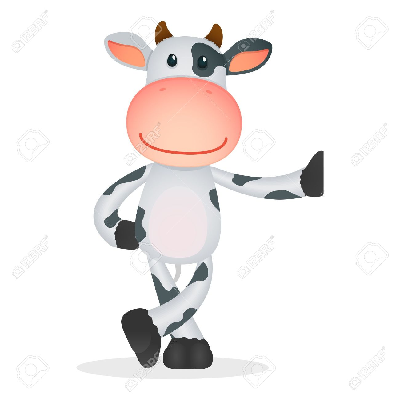funny cartoon cow Stock Vector - 11250679
