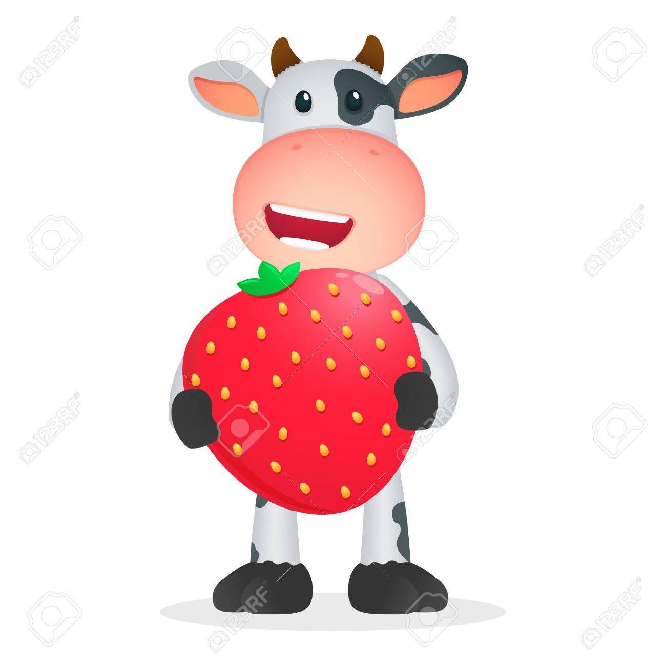 funny cartoon cow Stock Vector - 11250799