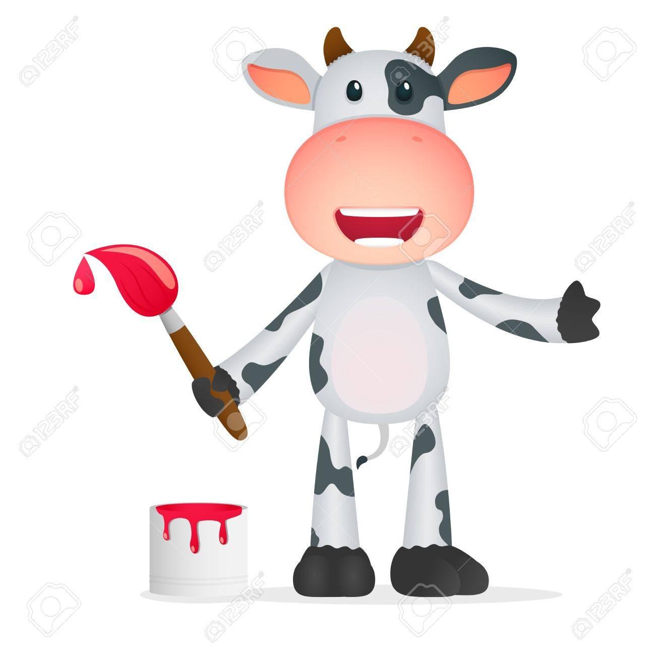 funny cartoon cow Stock Vector - 11250788