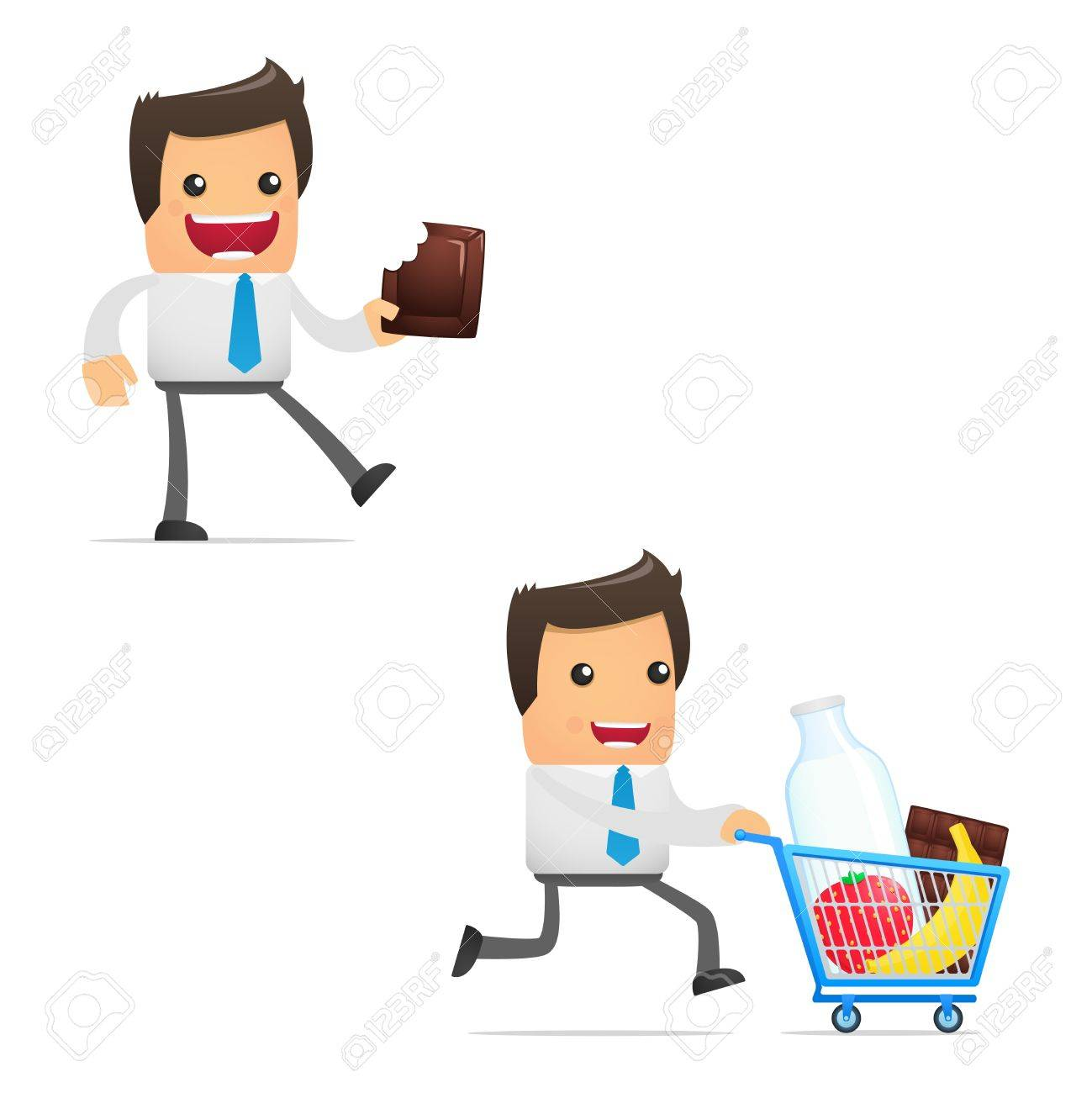 set of funny cartoon manager Stock Vector - 11412135