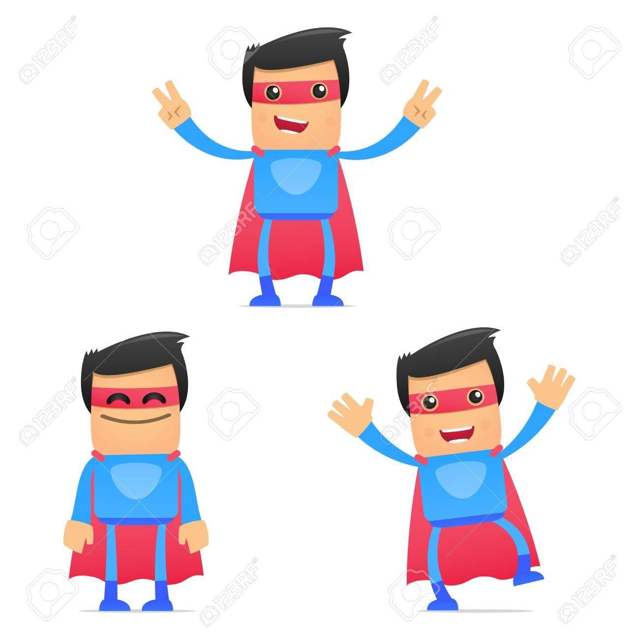 set of funny cartoon superhero Stock Vector - 11651479