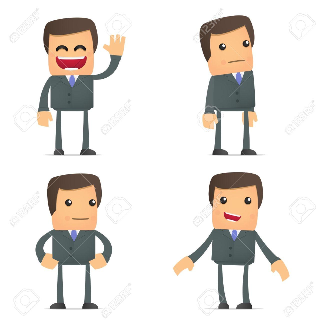 Business team cartoon characters cartoon vector cartoondealer com - Cartoon Businessman Set Of Funny Cartoon Businessman