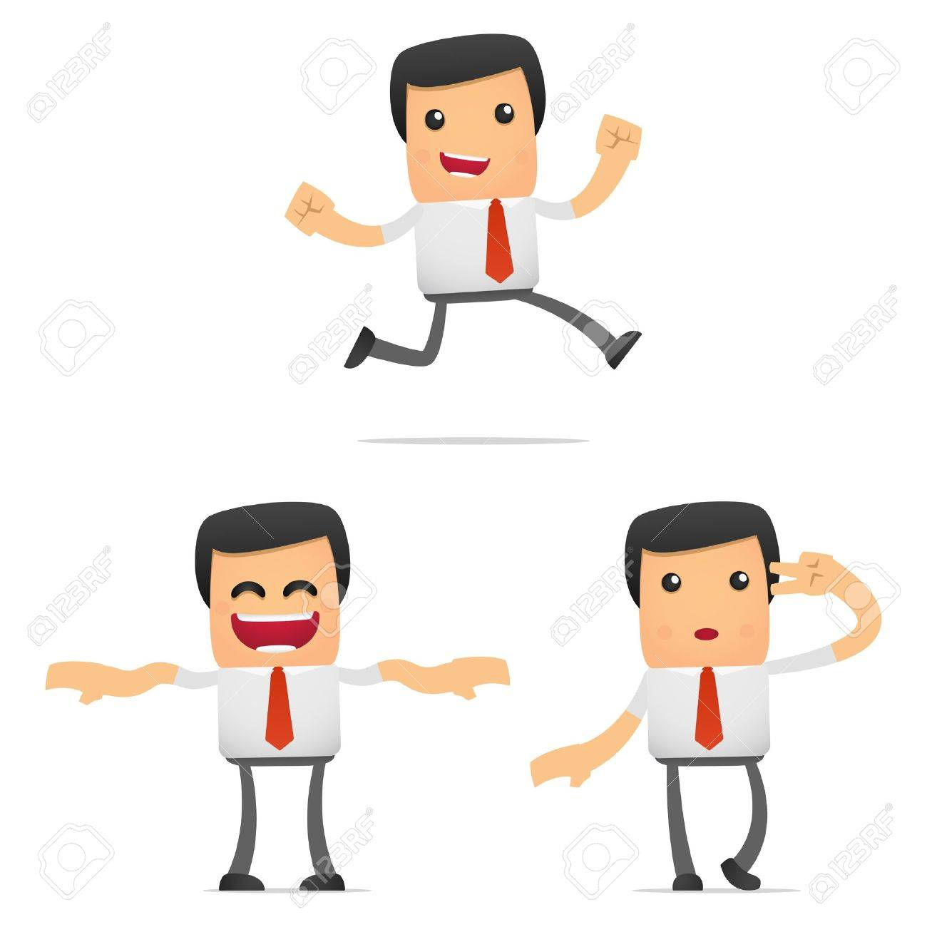 set of funny cartoon manager Stock Vector - 11864730