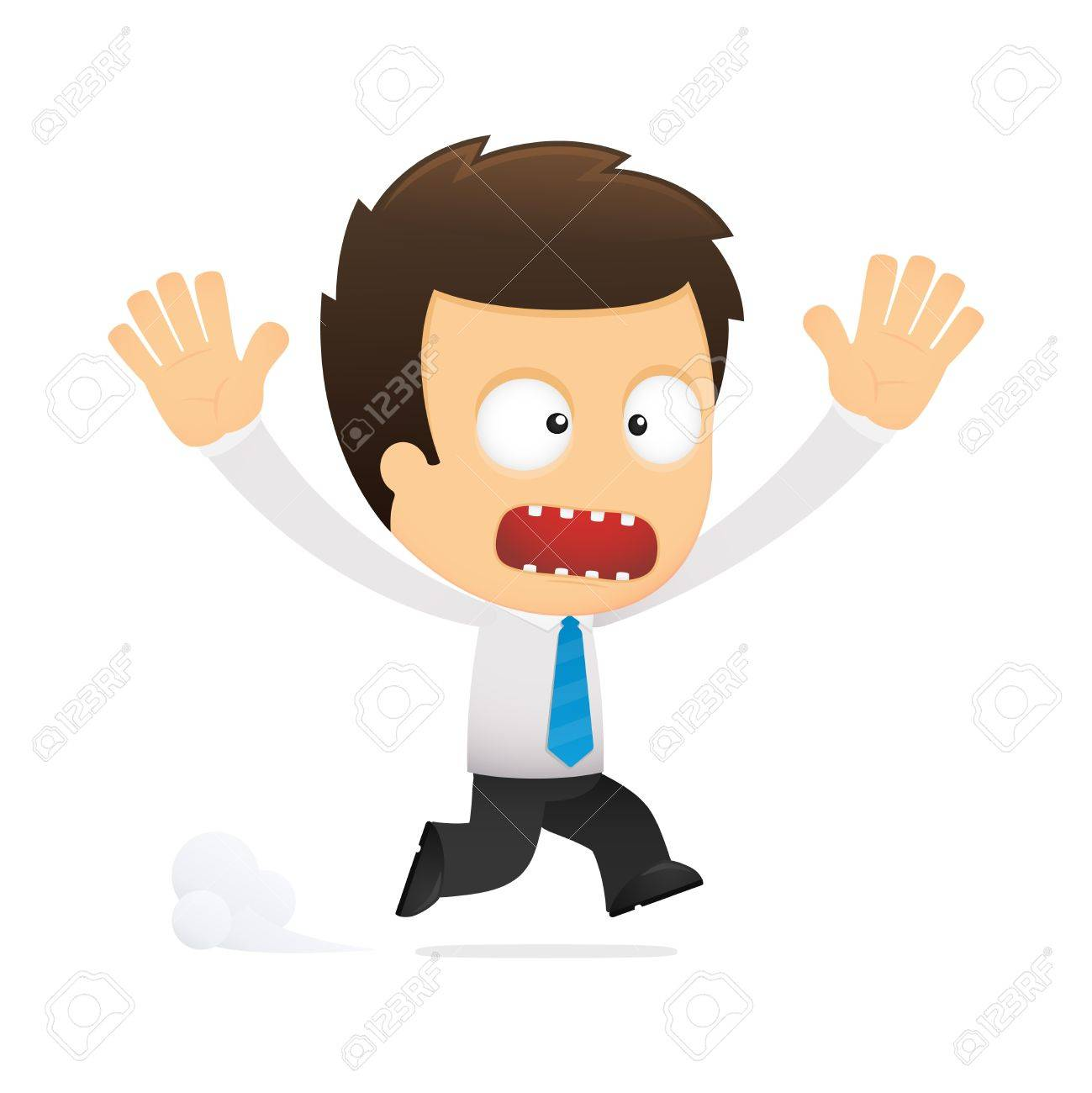 funny cartoon office worker Stock Vector - 12488420
