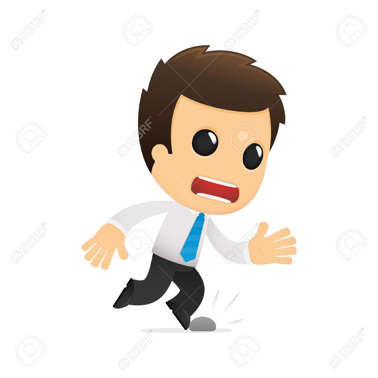 Funny Cartoon Office Worker Royalty Free Cliparts Vectors And Stock Illustration Image 12488432