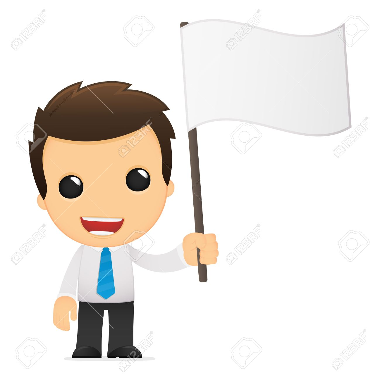 funny cartoon office worker Stock Vector - 12740614
