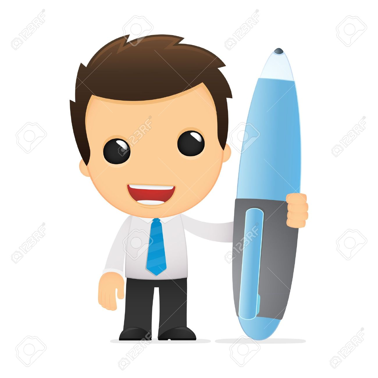 funny cartoon office worker royalty free cliparts vectors and rh 123rf com