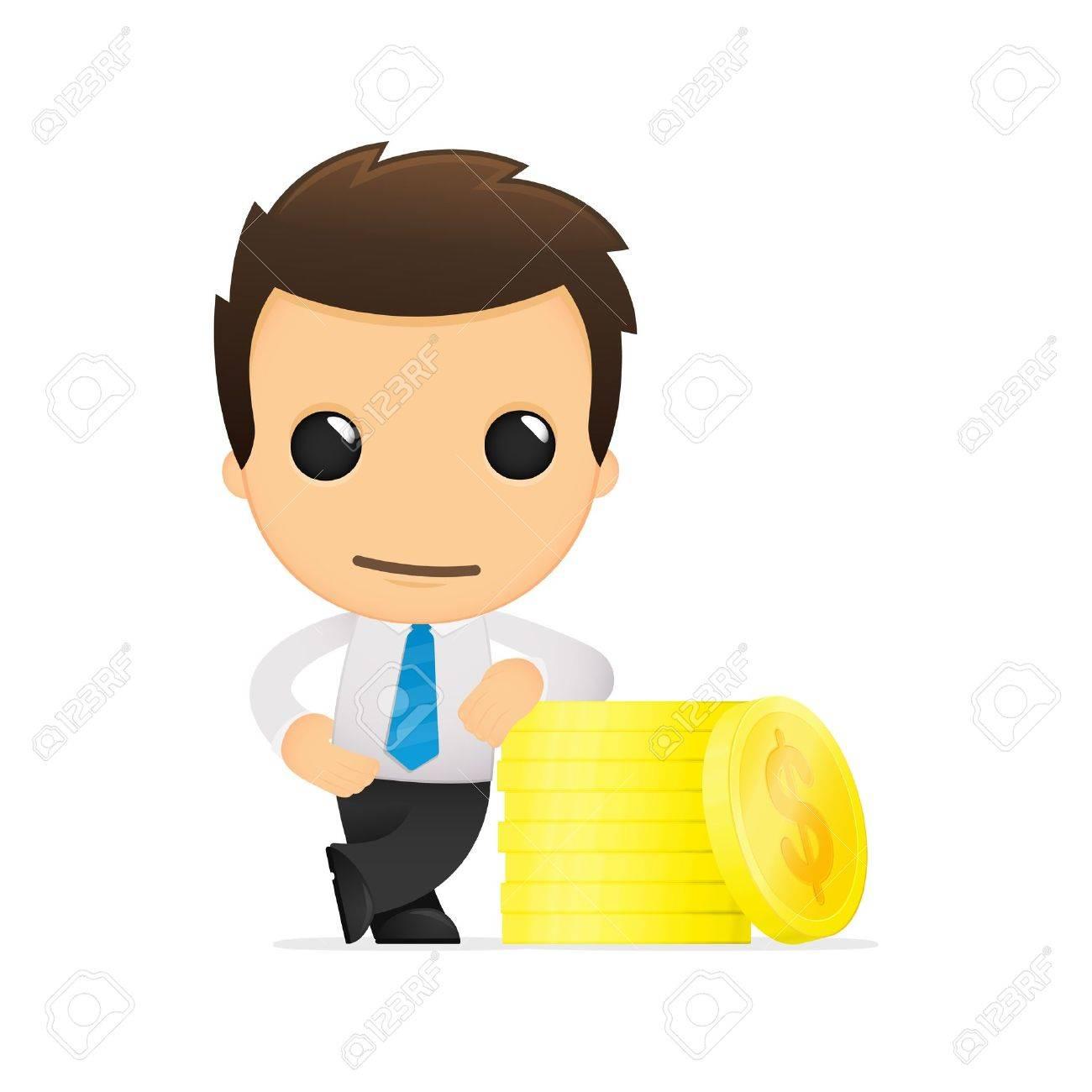 funny cartoon office worker Stock Vector - 12853427