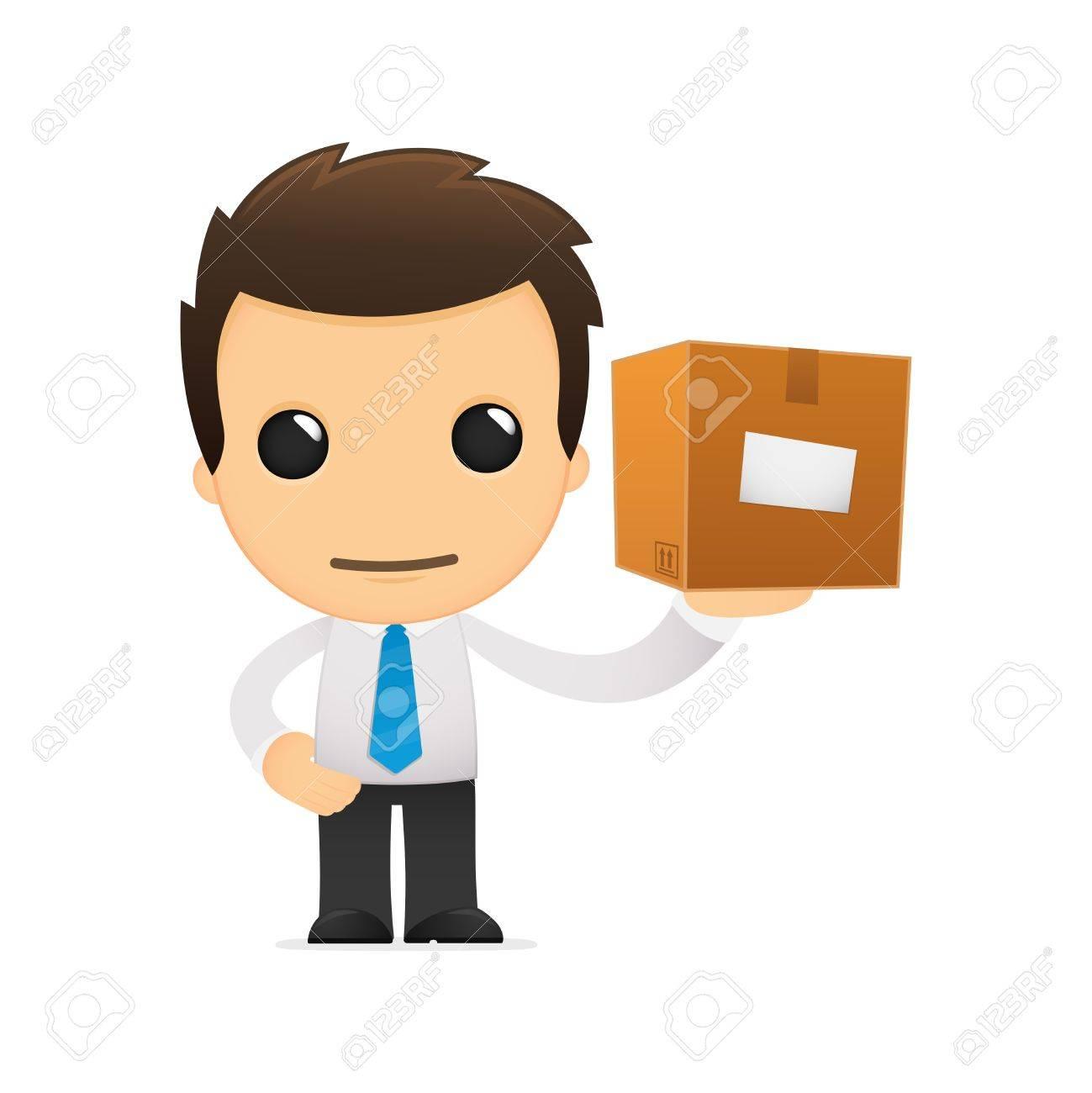 funny cartoon office worker Stock Vector - 12853217