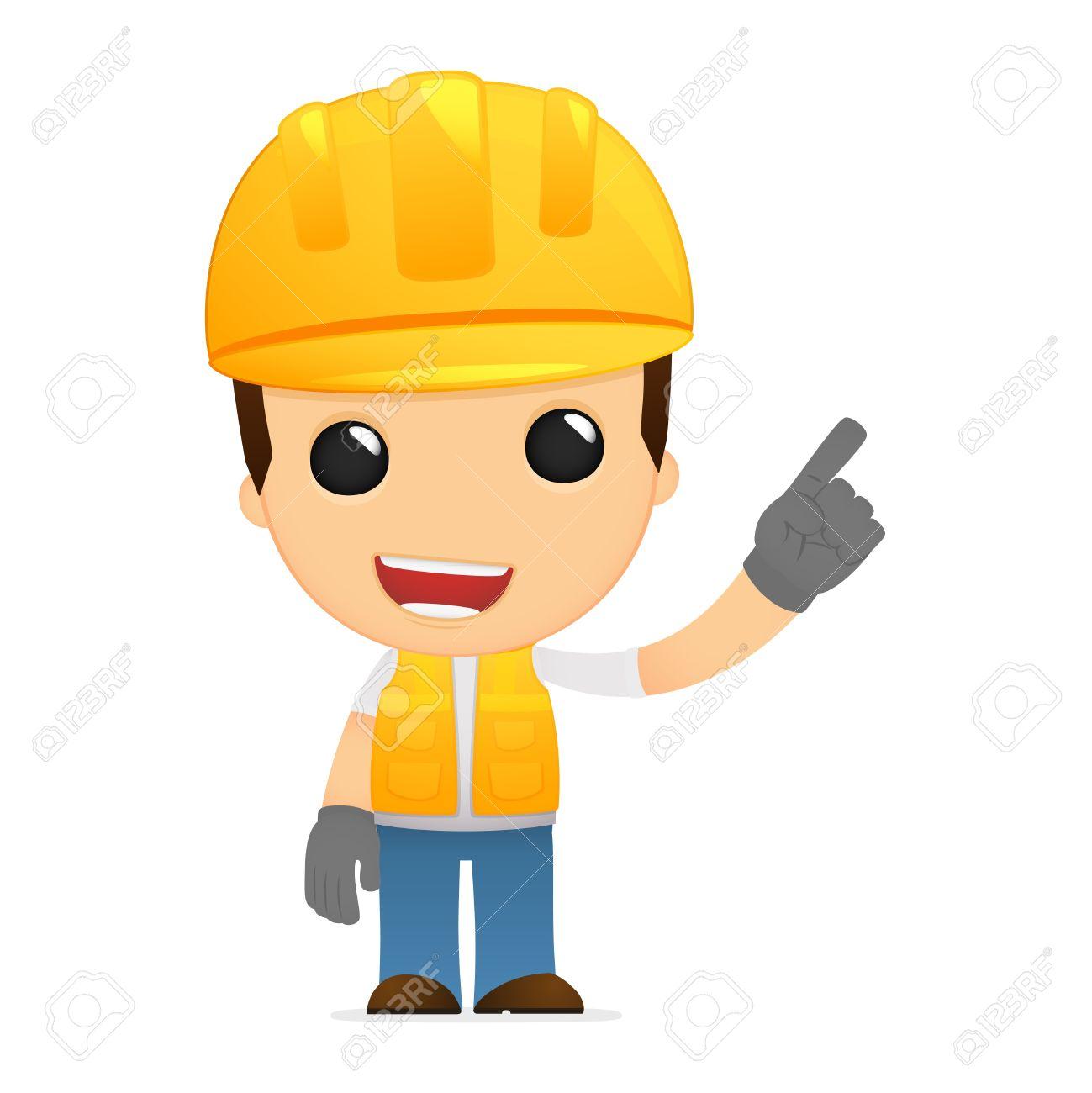 funny cartoon builder Stock Vector - 13312079