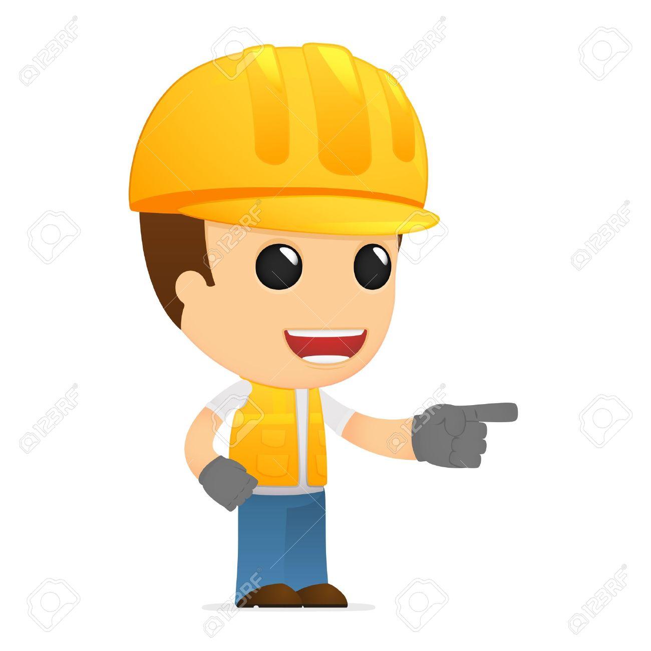 funny cartoon builder Stock Vector - 13312163