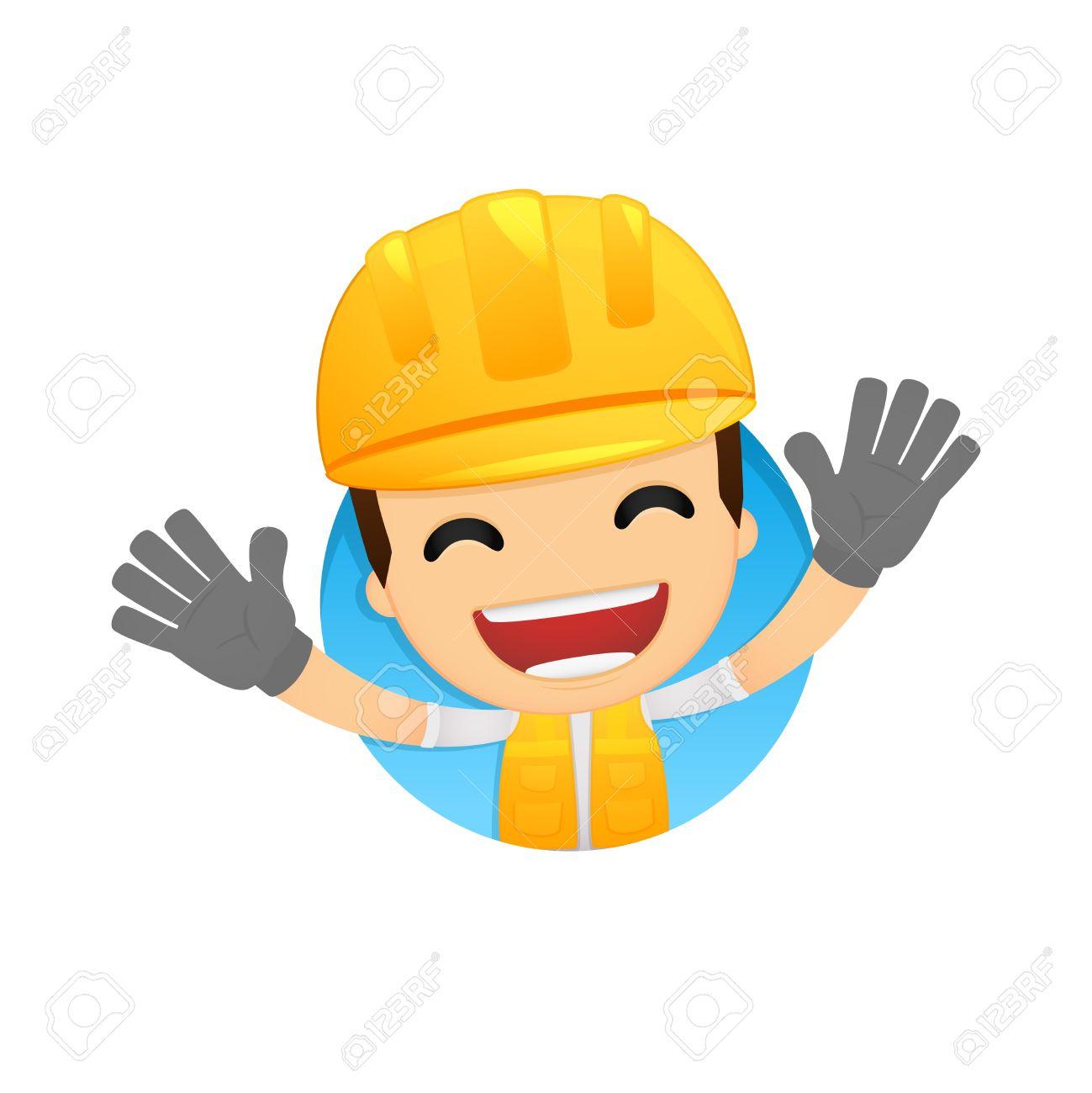 funny cartoon builder Stock Vector - 13312052