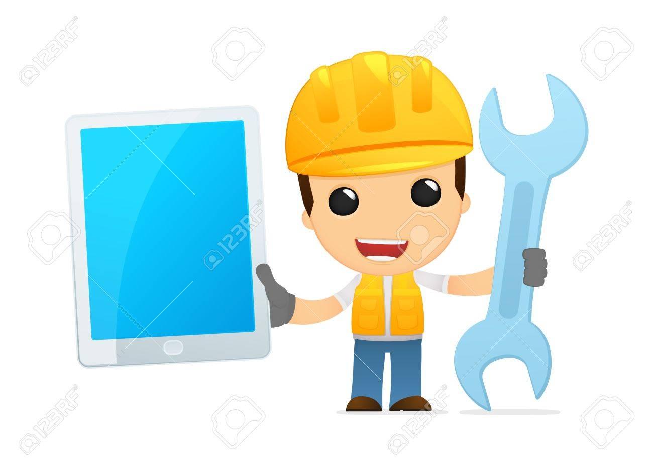 funny cartoon builder Stock Vector - 13312598