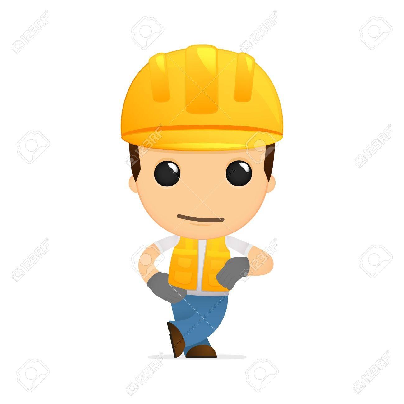 funny cartoon builder Stock Vector - 13312004