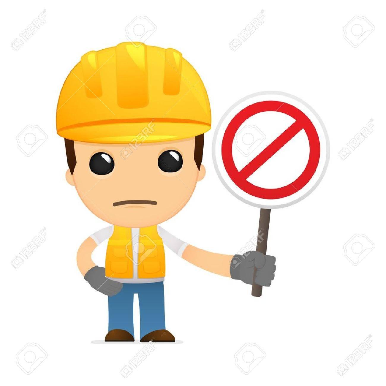 funny cartoon builder Stock Vector - 13312184