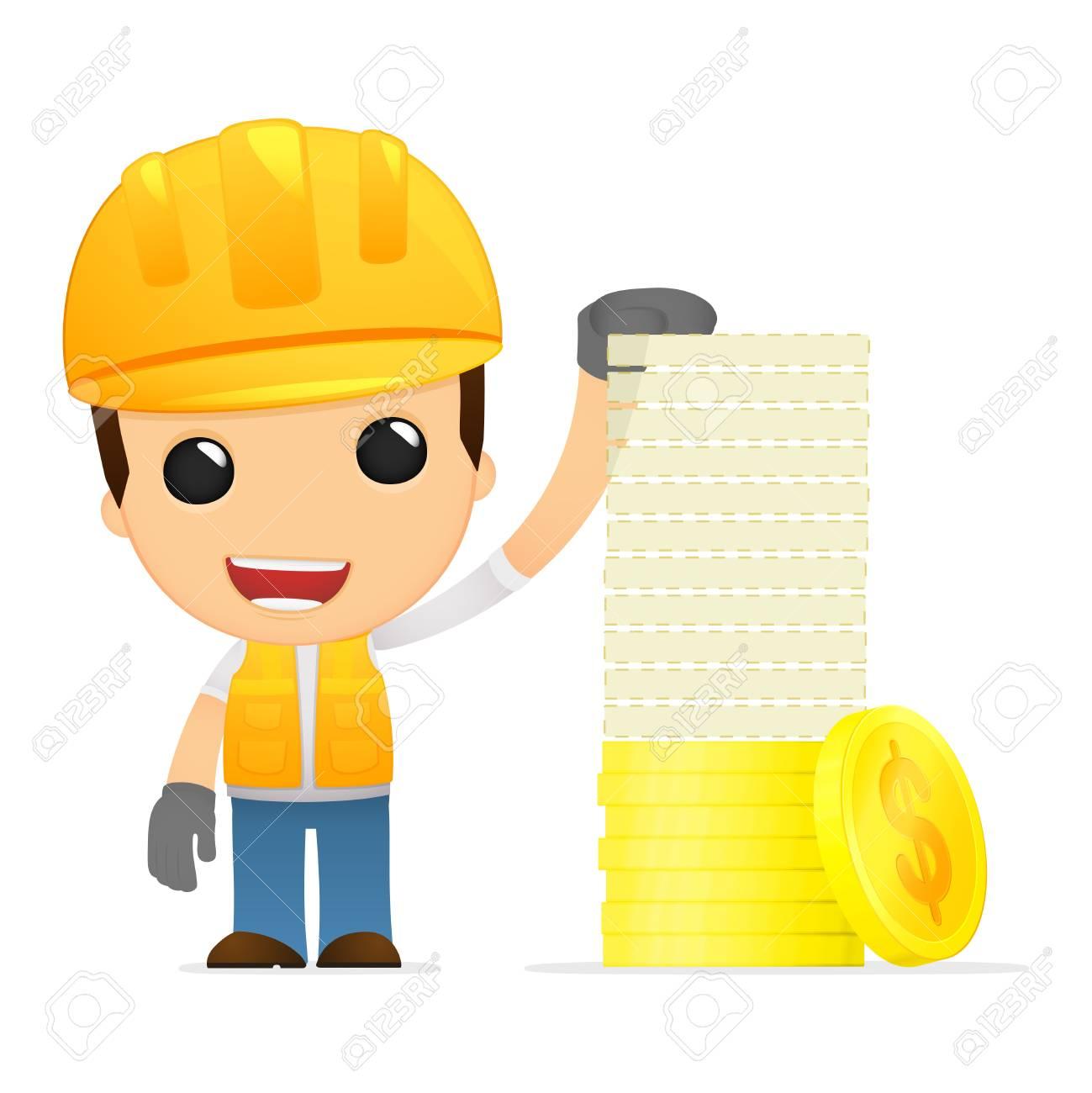 funny cartoon builder Stock Vector - 13312769